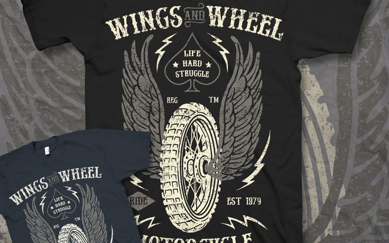 Wings-And-Wheel-T-shirt-design-23085